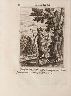 Pan. - 'Images Depicting the Gods of the Ancients' by Vincenzo Cartari was first published in 1556.