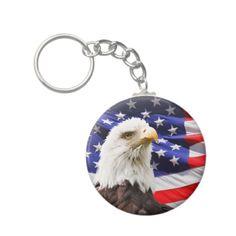 Patriotic Key Chains #Patriotic #Eagle #Keychain