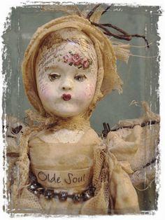 Gypsy Fairy Olde Soul Art Doll by Mosshillstudio on Etsy