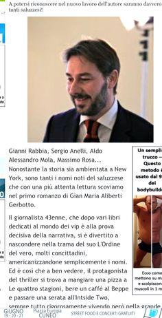 SONO TANTI I SALUZZESI CHE SI RICONOSCERANNO NEL MIO ROMANZO... http://www.targatocn.it/2015/06/16/sommario/saluzzese/leggi-notizia/argomenti/targato-curiosita/articolo/saluzzo-in-presentazione-lordine-del-vero-di-gian-maria-aliberti-gerbotto.html