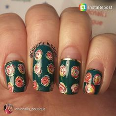 #nailstorming art by Lily @chicnails_boutique at #scra2chfloral series. #repost on FB/IG/Twitter/G+.
