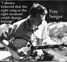 Folk legend Pete Seeger reflects on his activism through music.