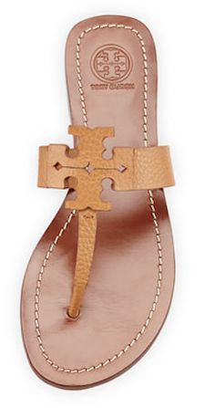 0a21e5e8d Tan Tory Burch flats! Goes with everything. Nude Sandals