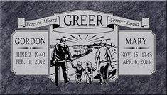 Companion Headstone Designs | Pacific Coast Memorials. Puts me in mind of them and what they loved most