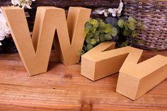 """Γράμμα """"W"""" Papier Mache  Γράμμα """"W"""" papier mache.Xρησιμοποιήστε τα ως έχουν, ή διακοσμήστε τα με όποια τεχνική θέλετε. Κολλήστε Washi Tapes, διακοσμήστε με σφραγίδες ή ζωγραφίστε τα, συνδυάστε μικρά ξύλινα ή μεταλλικά διακοσμητικά στοιχεία, κορδέλες, κορδόνια και ότι άλλο μπορείτε να φανταστείτε. Ιδανικά και ως βάση για Ντεκουπάζ. Washi, Container, Food, Eten, Meals, Canisters, Diet"""