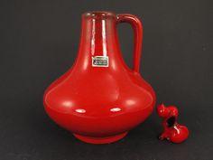 Vintage Keramik Vase / Herkenroth Majolika / Modell 512 1 | West German Pottery | 60er von ShabbRockRepublic auf Etsy