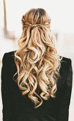 Cute braids and curls