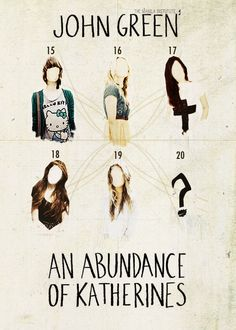 Book covers come to life:John Green's books (4/4) An Abundance of Katherines Wow.