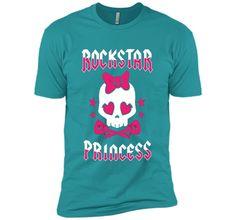 Rockstar Princess Rock Star Skull Punk Guitar Bold T-shirt