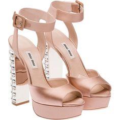 5f6b5e5f96756 Miu Miu Sandals, Shoes Sandals, Nude Heels, Nude Heeled Sandals, Sandals  Platform