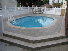 Semi in-ground pool surround idea