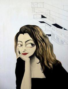 Zaha Hadid by Elena Boccoli. Photograph Courtesy of Elena Boccoli.