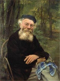 Portrait of my Grandfather by Jules Bastien-Lepage (Jules Bastien Lepage), Oil on canvas