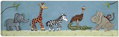 Jungle Safari Parade Canvas Art