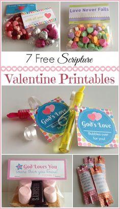 7 FREE Scripture Valentine's Printables