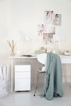 Scandinavian home office and work space