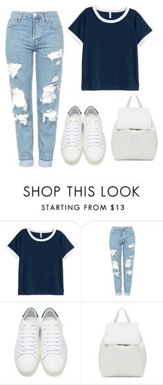 """""""Untitled #691"""" by andrea-499 ❤ liked on Polyvore featuring H&M, Topshop, Yves Saint Laurent and Mansur Gavriel"""