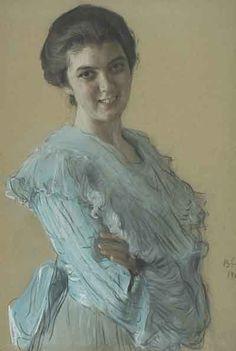 Valentin Serov - Portrait of Nina Khruscheva 1903 Ilya Repin, Soviet Art, Classical Art, A4 Poster, Russian Art, Vintage Artwork, Art And Architecture, Art World, Great Artists