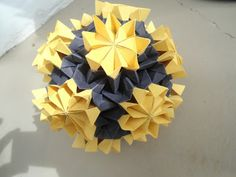 ADOBRACIA: Kusudama Bouquet Of Primroses (With Diagram) Creation: Tomoko Fuse