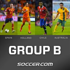 2014 FIFA #WorldCup Group B - #Spain, #Holland, #Chile and #Australia. Who will advance?