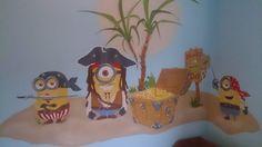 minions piraten muurschildering