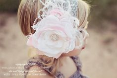 Baby Girl Headbands-Vintage Glamour-Newborn Headband-Fancy Headbands-Couture Baby Headband-Photo Prop.  via Etsy.