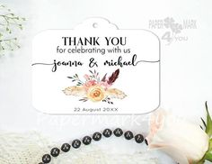 Items similar to 24 Boho Watercolor Favor Tag _Tribal Bohemian Wedding Label_ Thank You Wedding Tag_Floral Rustic Wedding Tag_Personalized_Bridal Shower on Etsy Wedding Labels, Wedding Favor Tags, Personalized Tags, Rustic Wedding, Bridal Shower, Bohemian, Place Card Holders, Messages, Watercolor