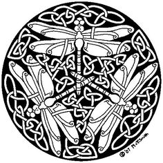 Find the desired and make your own gallery using pin. Drawn dragonfly art nouveau - pin to your gallery. Explore what was found for the drawn dragonfly art nouveau Mandala Coloring Pages, Animal Coloring Pages, Colouring Pages, Adult Coloring Pages, Coloring Books, Celtic Symbols, Celtic Art, Celtic Knots, Celtic Mandala