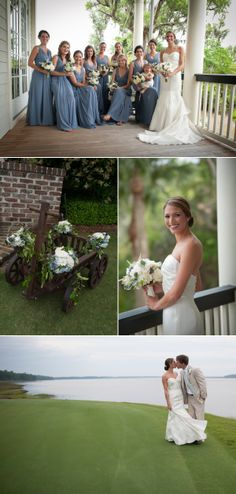 Long Periwinkle Blue Bridesmaids Dresses #southernwedding wedding