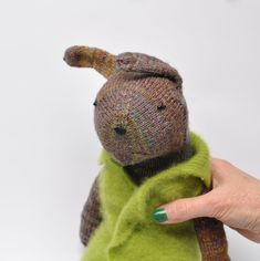 Peter Rabbit, Garden Bunny, Mr. Bunny Rabbit, Knit Bunny, 21 inches tall, child-friendly doll by WilleWorks on Etsy