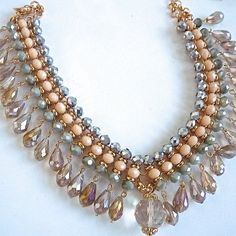 Hey, I found this really awesome Etsy listing at https://www.etsy.com/listing/185940470/pearl-jewel-multicolored-peach-crystal