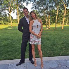 My date! #SuperBowlRingCeremony ❤️ Meu encontro da noite! #Tom Brady and Gisele @Patriots