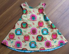 PiePie Designs: DIY Baby Dress: The Aurthi. Also has a bib tutorial! Sewing For Kids, Baby Sewing, Sewing Clothes, Diy Clothes, Kids Patterns, Diy Dress, Baby Crafts, Little Girl Dresses, Kids Wear