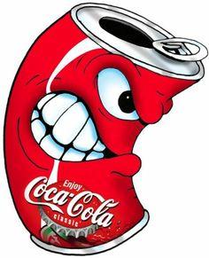 Coke Character I did for my Sons Birthday cake Vintage Coca Cola, Coca Cola Can, Always Coca Cola, Coca Cola Bottles, Graffiti Tattoo, Graffiti Drawing, Graffiti Art, Cartoon Drawings, Cartoon Art