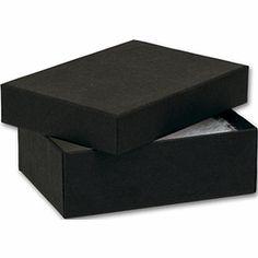 "Black Kraft Jewelry Boxes, 3 x 2 1/8 x 1"""