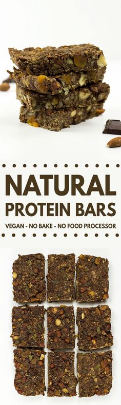Simple and nutritious no bake protein bars - made in minutes…