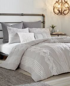 Peri Home Cut Geo Bedding Collection & Reviews - Bedding Collections - Bed & Bath - Macy's