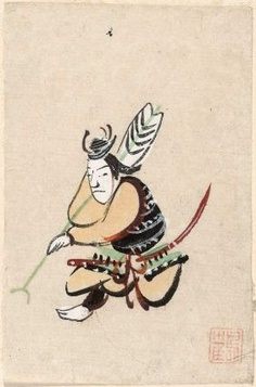 Ôtsu-e: Yanone Gorô 大津絵 矢の根五郎 Japanese, Edo period–Meiji era, century, Ink and color on paper, MFA Meiji Era, Edo Period, Japanese Art, Asian Art, 19th Century, Folk, Doodles, Painting, Illustration