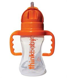 BPA Free Thinkster Straw Bottle. Photo and item from thinkbabybottles.com