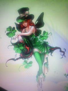 Irish Fairy tattoo I want minus the skeleton Four Leaf Clover Tattoo, Clover Tattoos, Irish Tattoos, Celtic Tattoos, Leprechaun Tattoos, Shamrock Tattoos, Fairy Tattoo Designs, Body Art Tattoos, Zodiac Tattoos