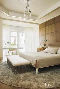 Eclectic Cream Bedroom Detail | LuxeSource | Luxe Magazine - The Luxury Home Redefined