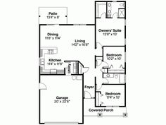 Eplans Cottage House Plan - Three Bedroom Cottage - 1430 Square Feet and 3 Bedrooms(s) from Eplans - House Plan Code HWEPL66661