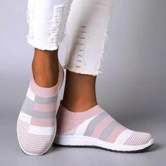 Women Comfy Color Block Sneakers Slip-on Running Shoes Wedge Heel Sneakers, Sneaker Heels, Slip On Sneakers, Casual Sneakers, Slip On Shoes, Casual Shoes, Shoes Sneakers, Platform Sneakers, Sneakers Women