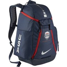 fc332014a27a Nike Hoops Elite Max Air Team USA Olympics Basketball Backpack (Midnight  Navy Midnight Navy Metallic Silver) -- Learn more by visiting the image  link.