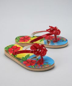 Take a look at this Red Aloha Sandal by Fairy Dreams on #zulily today!