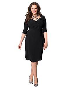 Fashion Bug Plus Size: Dresses:  Women's Plus Size Sweetheart Knit Wrap Dress www.fashionbug.us #PlusSize #FashionBug