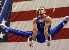 Danell Leyva competes on the still rings during day one of the U. Gymnastics Posters, Artistic Gymnastics, Olympic Gymnastics, Gymnastics History, Sports Models, Sports Photos, Male Models, Martial, Human Body