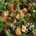 Salade de mâche, pomme et carottes