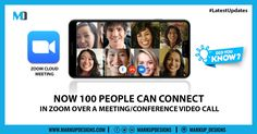 Zoom is the top-most video conferencing app used by millions of professional in this #lockdown. The most amazing feature is 100 people can connect together in the Zoom Video Conferencing.  #LatestUpdate #MobileApps #ZoomApp #ZoomMeetings #MarkupDesigns Zoom Cloud Meetings, Zoom Video Conferencing, App Development, Mobile App, Digital Marketing, Dubai, Connection, Amazing, People