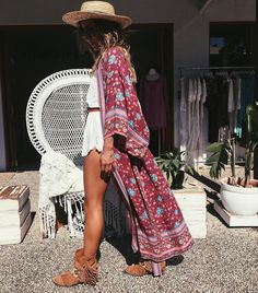 """Spell Designs on Instagram: """"Babin' @anita_ghise rocking our Folk Town Kimono outside our Byron boutique… loving it paired with the Coco Romper ♡ {link in bio} ❤️"""""""